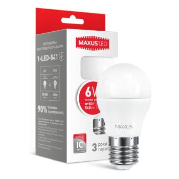 LED Лампа MAXUS G45 6W тепле світло