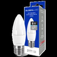 LED Лампа GLOBAL C37 CL-F 5W яскраве світло