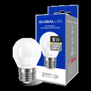 LED Лампа GLOBAL G45 F 5W тепле світло
