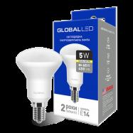 LED Лампа   GLOBAL R50 5W тепле світло