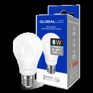 LED Лампа  GLOBAL A60 8W яскраве світло
