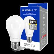 LED Лампа GLOBAL A60 10W тепле світло