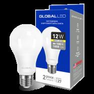 LED Лампа GLOBAL A60 12W тепле світло