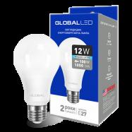 LED Лампа  GLOBAL A60 12W яскраве світло
