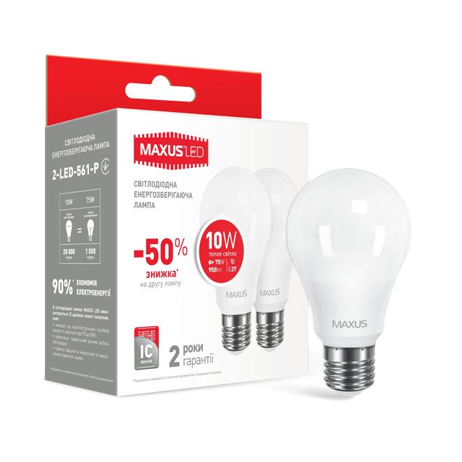 Набір LED Ламп MAXUS A60 10W тепле світло