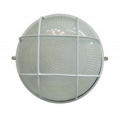 Світильник круглий  метал.  (з решіткою) білий  Lemanso